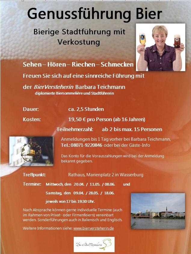 Barbara Teichmann Die BierVersteherin Genussführung Bier in Wasserburg