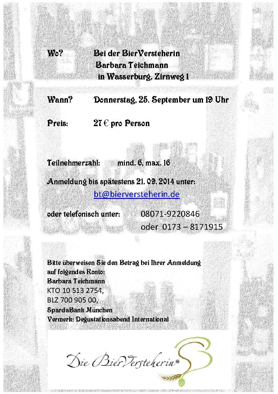Barbara Teichmann die BierVersteherin lädt ein zum Seminar Vom Kriek zum Chocarrubica