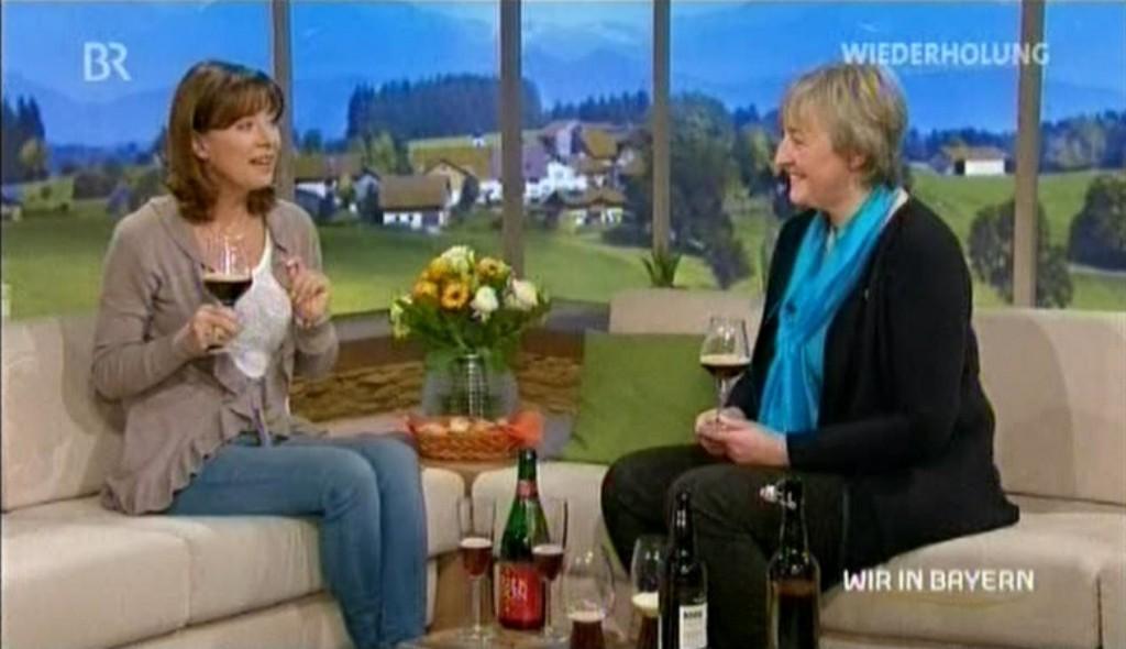 Die BierVertseherin Barbara Teichmann bei Sabine Sauer in Bayern 3