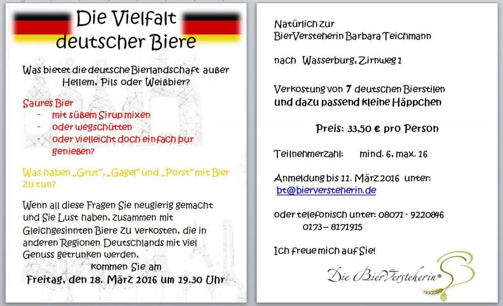 Bierversteherin Barbara Teichmann lädt zur Verkostung ein. Vielfalt deutscher Biere