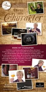Barbara Teichmann die Bierversteherin in der Blauen Traube in Burgthann mit den Bierspezialitäten von BraufaktuM