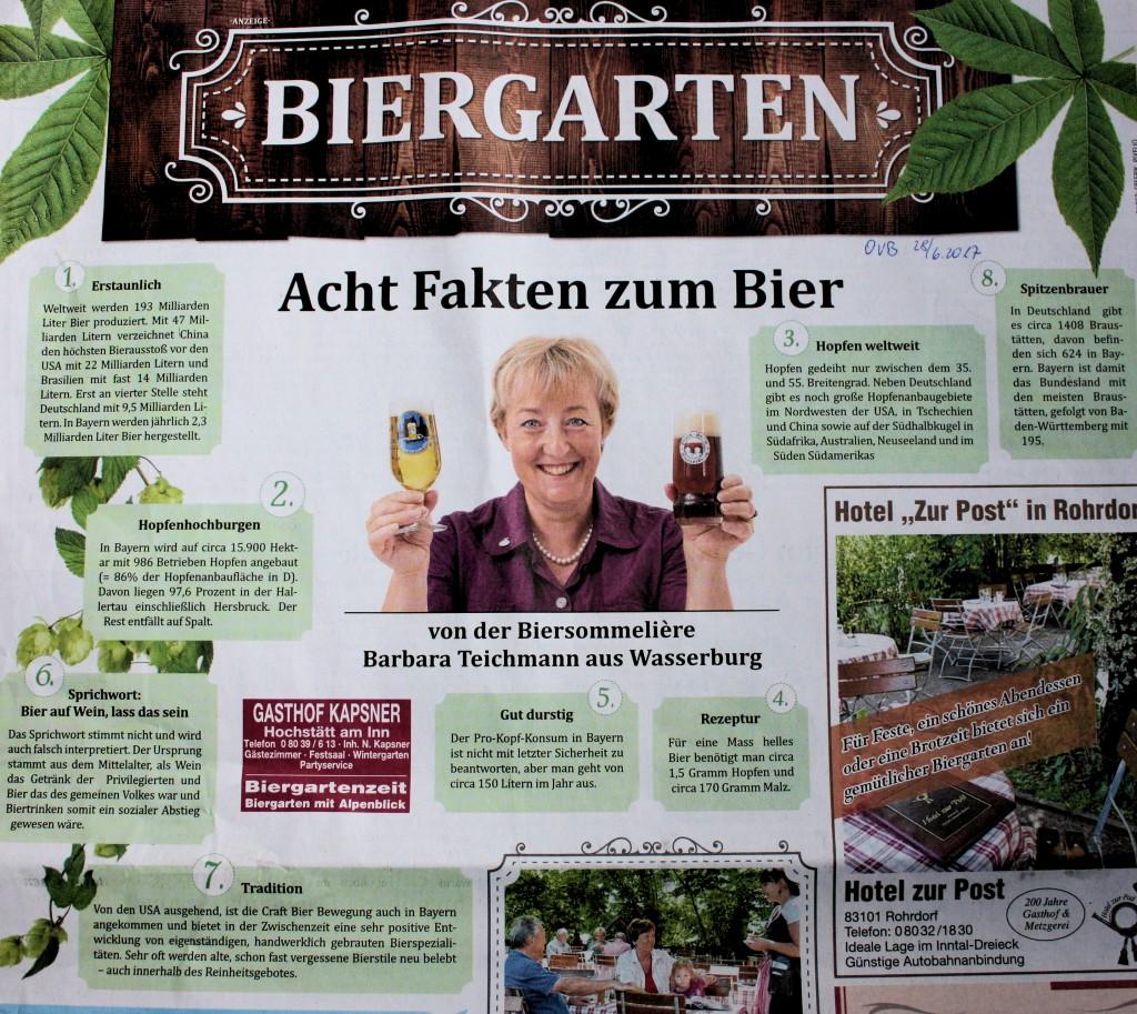 Barbara Teichmann, die BierVersteherin aus Wasserburg: Was Sie schon immer über Biere wissen wollten